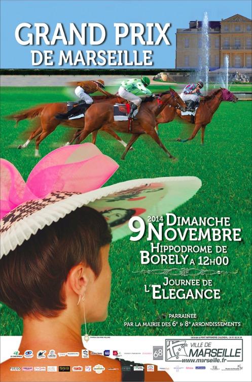 Affiche Grand Prix de Marseille 2014