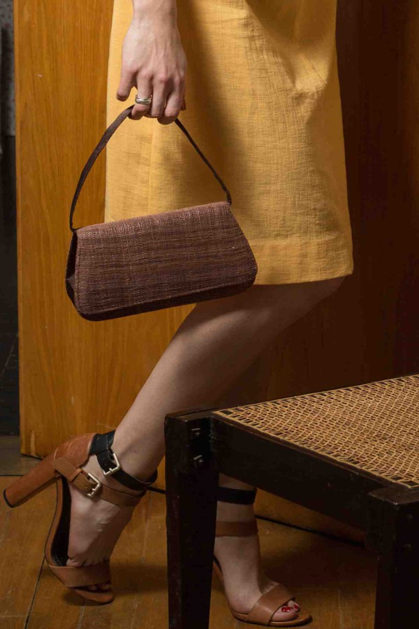 sac fait main marron